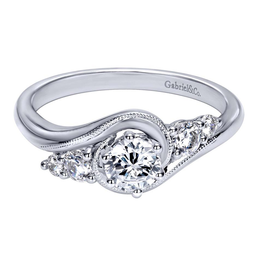 Gabriel 14 Karat Contemporary Engagement Ring ER910064W44JJ