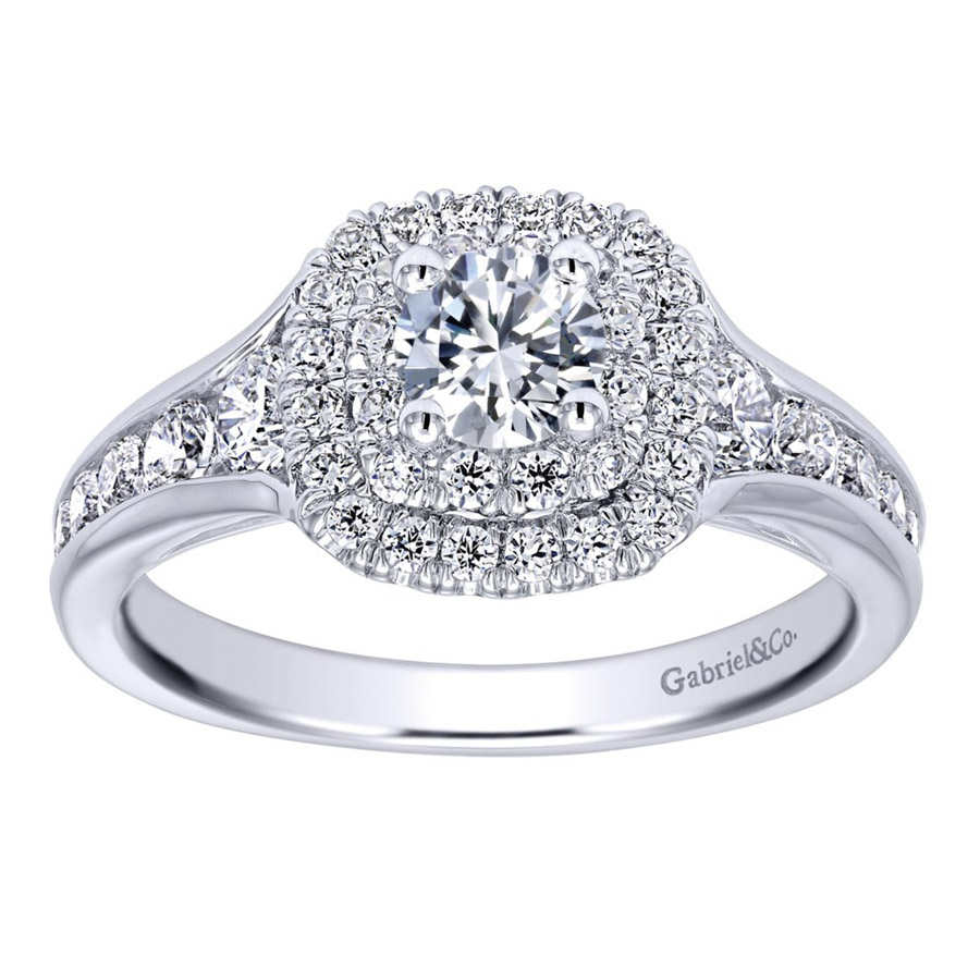 Gabriel 14 Karat Contemporary Engagement Ring ER910162W44JJ Alternative View 4
