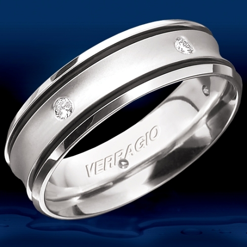 Verragio Platinum In-Gauge Diamond Wedding Band RUD-7906 Alternative View 1