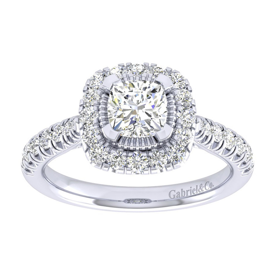 Gabriel 14 Karat Perfect Match Engagement Ring ER039B4AJW44JJ Alternative View 4