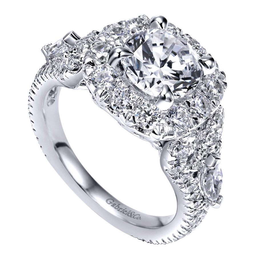 Gabriel 14 Karat Contemporary Engagement Ring ER11993R6W83JJ Alternative View 2