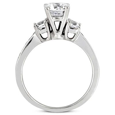 Taryn Collection Platinum Diamond Engagement Ring TQD 4236 Alternative View 1