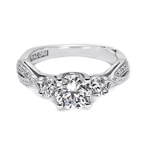Tacori 18 Karat Simply Tacori Engagement Ring 2637RD65