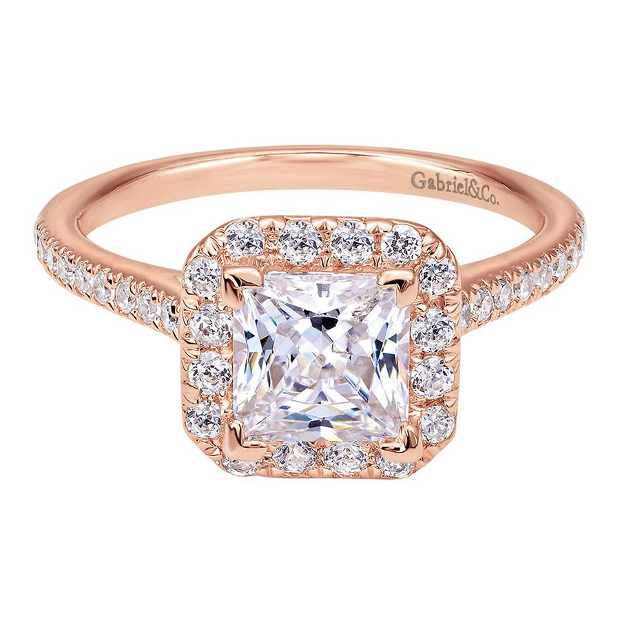 Gabriel 14 Karat Contemporary Engagement Ring ER7266K44JJ