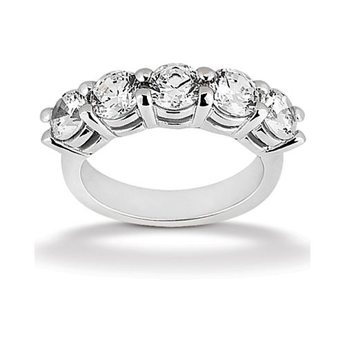 Diamond Five Stone Band Platinum Taryn Collection TQD B-1912-5