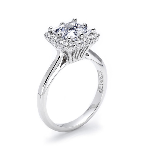 Tacori Platinum Solitaire Engagement Ring 2502PR7 Alternative View 1