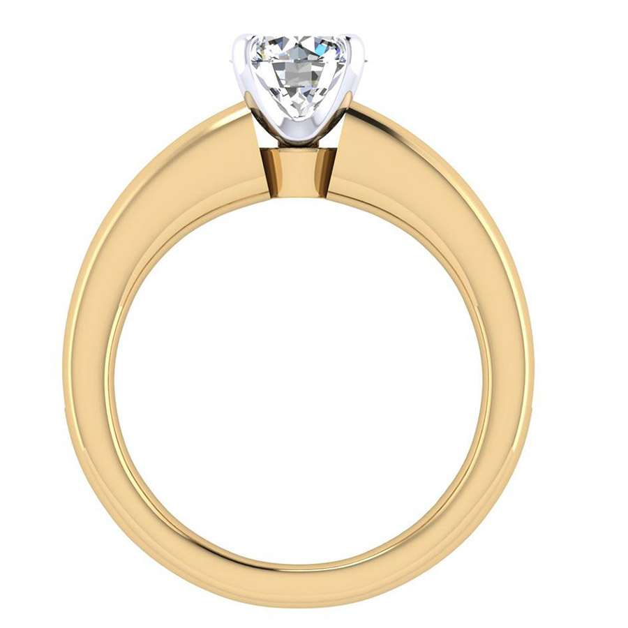 Gabriel 14 Karat Contemporary Engagement Ring ER3986M44JJ Alternative View 1