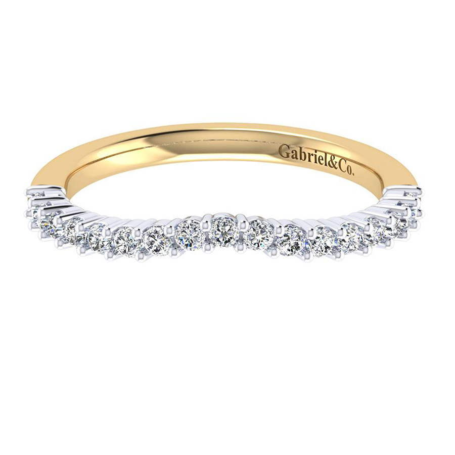 Gabriel 14 Karat Contemporary Wedding Band WB6941M44JJ