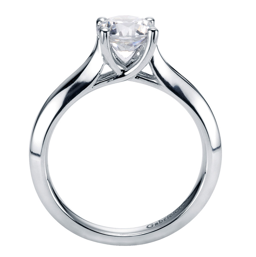 Gabriel Platinum Contemporary Engagement Ring ER6611PTJJJ Alternative View 1