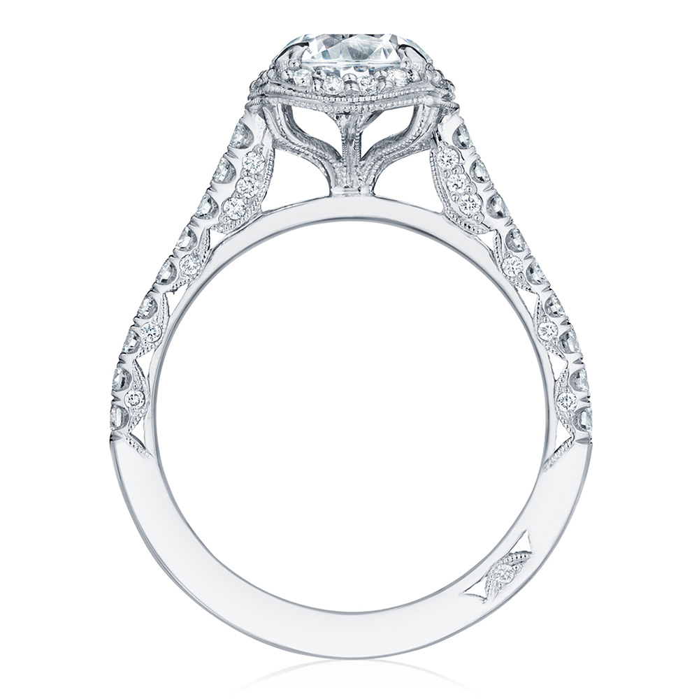 HT2547CU7 Platinum Tacori Petite Crescent Engagement Ring Alternative View 1