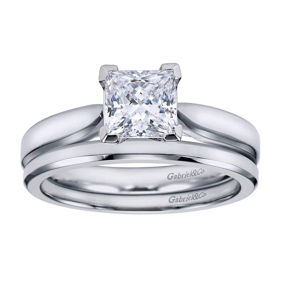Gabriel Platinum Contemporary Engagement Ring ER6595PTJJJ Alternative View 3