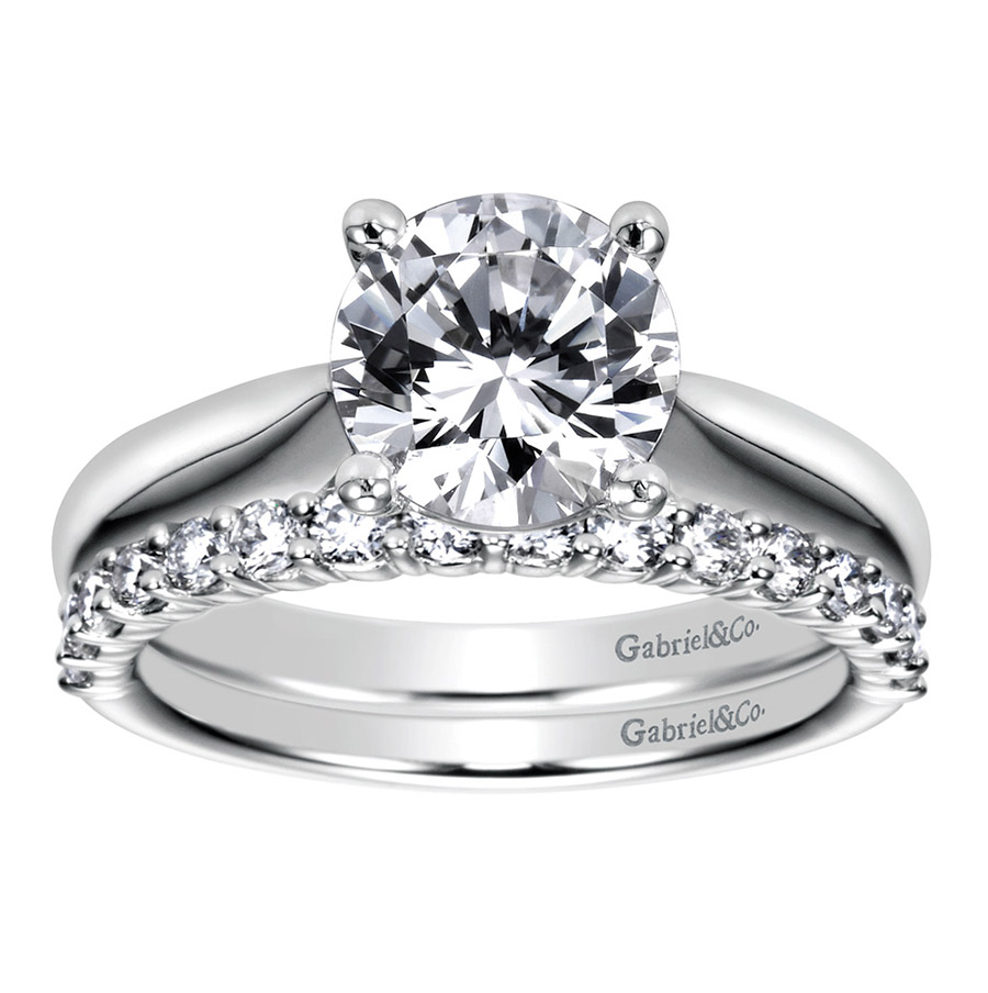 Gabriel Platinum Contemporary Engagement Ring ER6659PTJJJ Alternative View 3