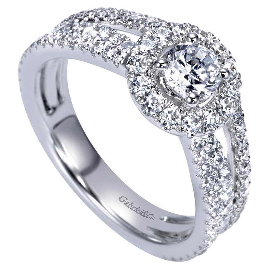 Gabriel 14 Karat Contemporary Engagement Ring ER98535W44JJ Alternative View 2
