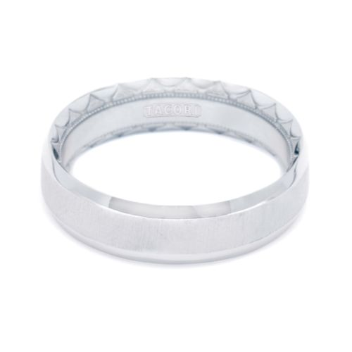 Tacori 626WS Platinum Crescent Wedding Band