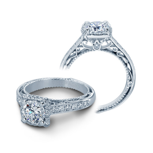 Verragio Venetian-5015CU Platinum Engagement Ring
