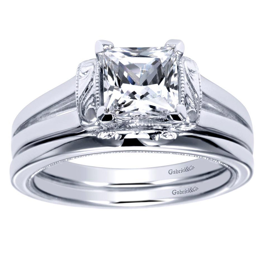 Gabriel Platinum Contemporary Engagement Ring ER9208PTJJJ Alternative View 3
