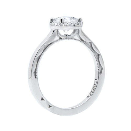 Simply Tacori Platinum Diamond Solitaire Engagement Ring 49RD65 Alternative View 3