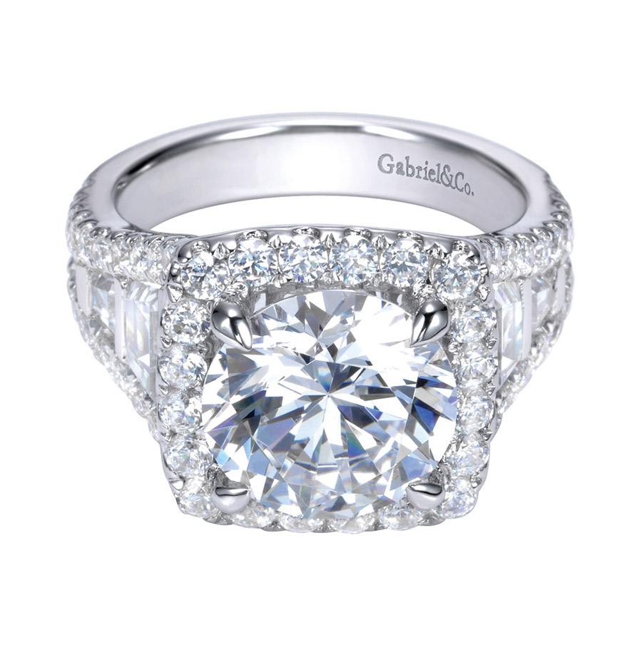 Gabriel 18 Karat Contemporary Engagement Ring ER11282W83JJ