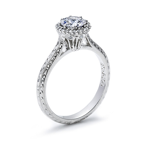 Tacori Platinum Solitaire Engagement Ring 2502RDE6 Alternative View 1