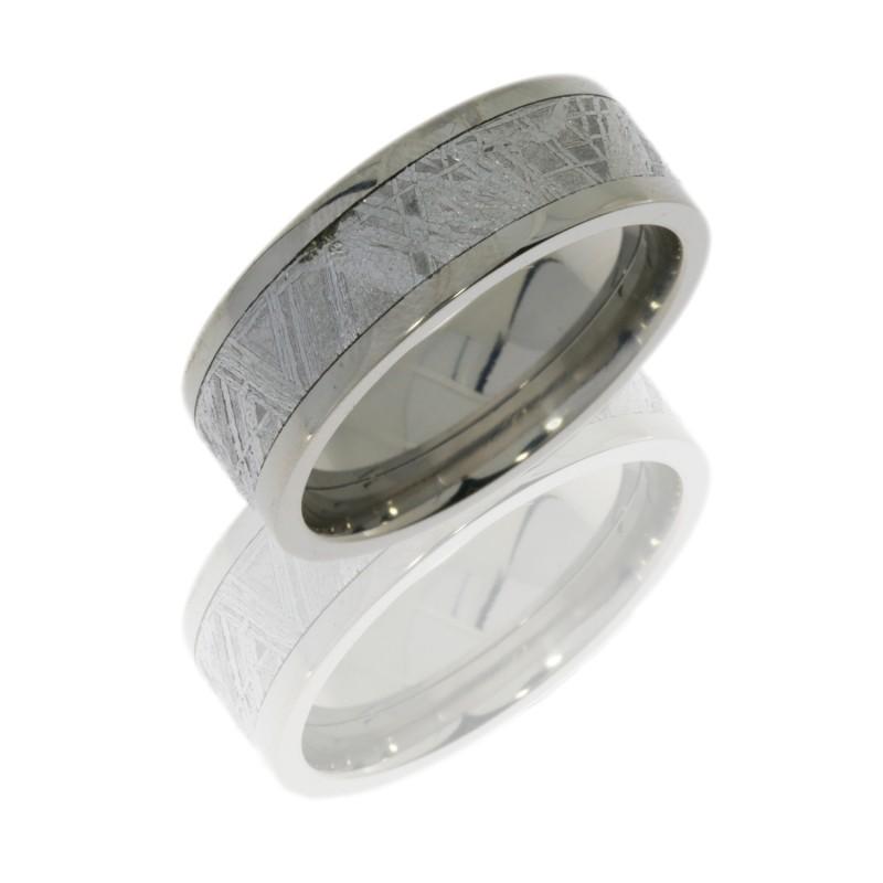 Lashbrook 8F15 METEORITE POLISH Titanium Wedding Ring Or Band