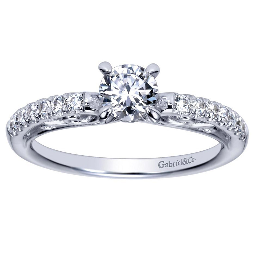 Gabriel 14 Karat Contemporary Engagement Ring ER98596W44JJ Alternative View 4
