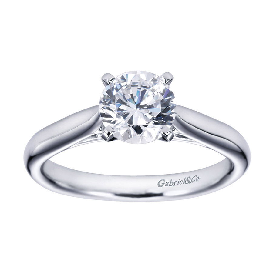 Gabriel Platinum Contemporary Engagement Ring ER6672PTJJJ Alternative View 4