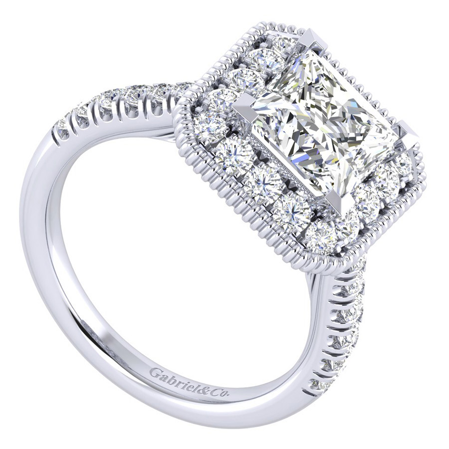 Gabriel 14 Karat Perfect Match Engagement Ring ER039C8ALW44JJ Alternative View 2