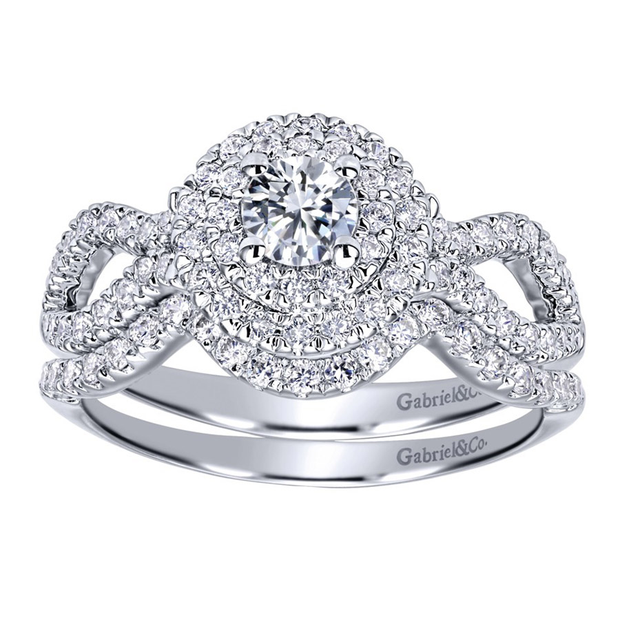 Gabriel 14 Karat Contemporary Engagement Ring ER911598R1W44JJ Alternative View 3
