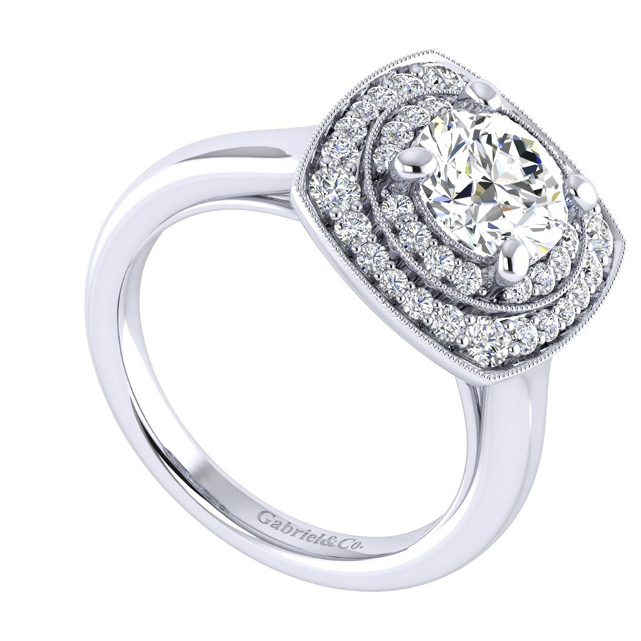 Gabriel 14 Karat Perfect Match Engagement Ring ER009C6AFW44JJ Alternative View 2