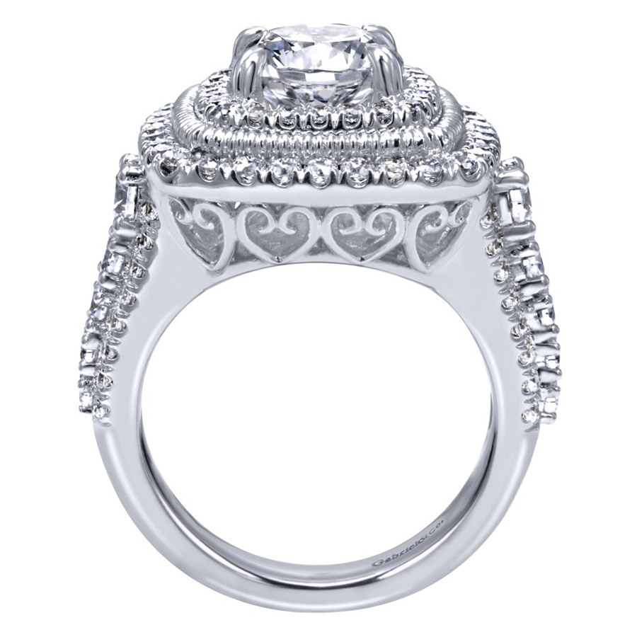 Gabriel 14 Karat Contemporary Engagement Ring ER8461W83JJ Alternative View 1