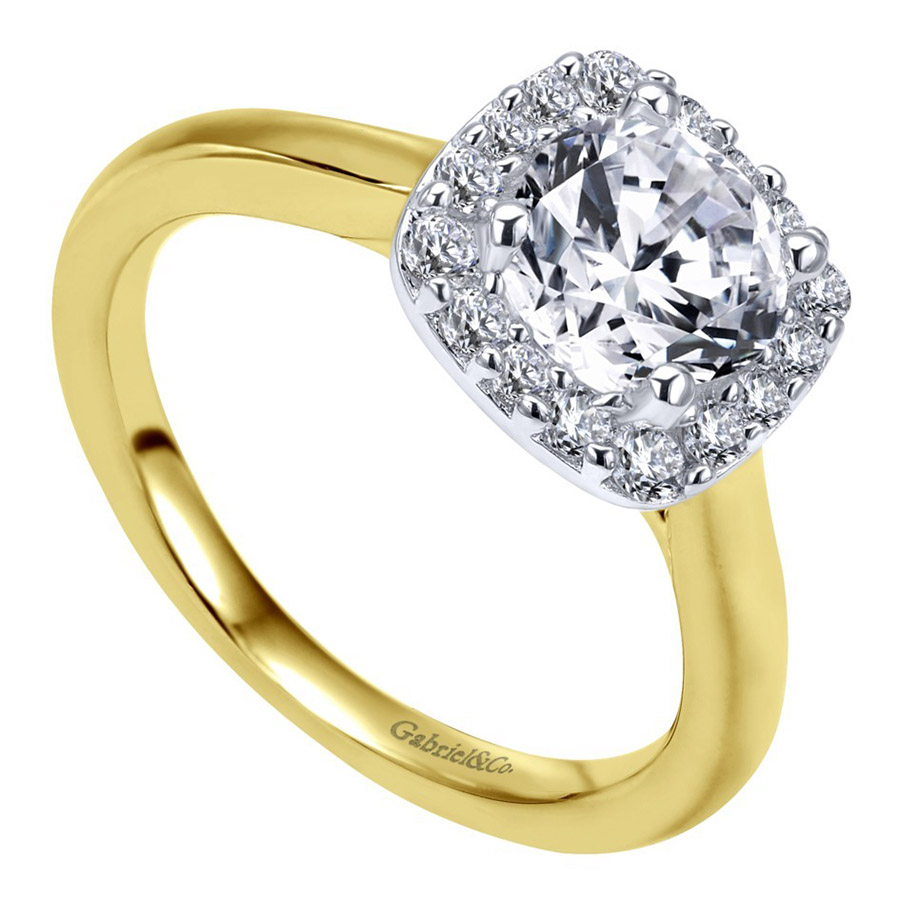 Gabriel 14 Karat Contemporary Engagement Ring ER6873M44JJ Alternative View 2