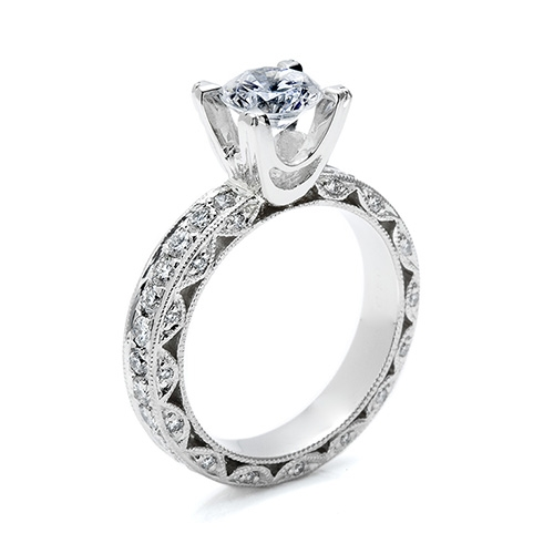 Tacori Platinum Crescent Silhouette Engagement Ring HT2229A Alternative View 1
