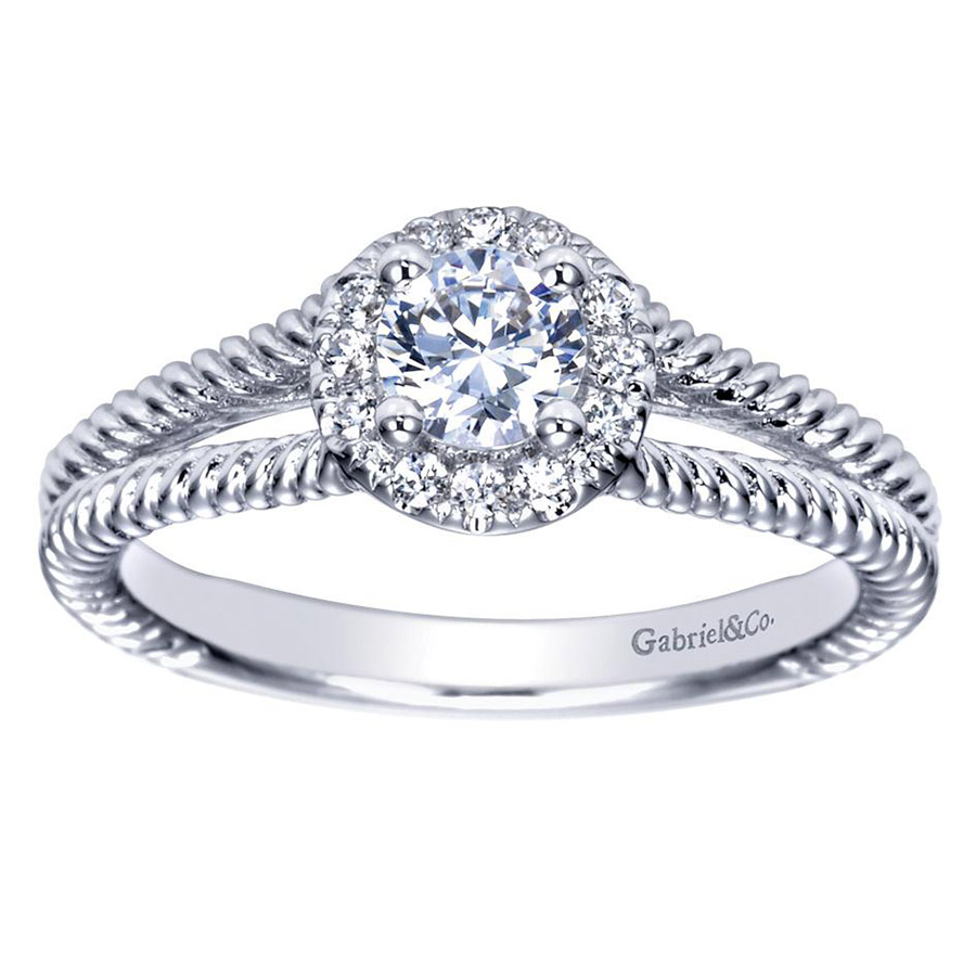 Gabriel 14 Karat Contemporary Engagement Ring ER98653W44JJ Alternative View 4