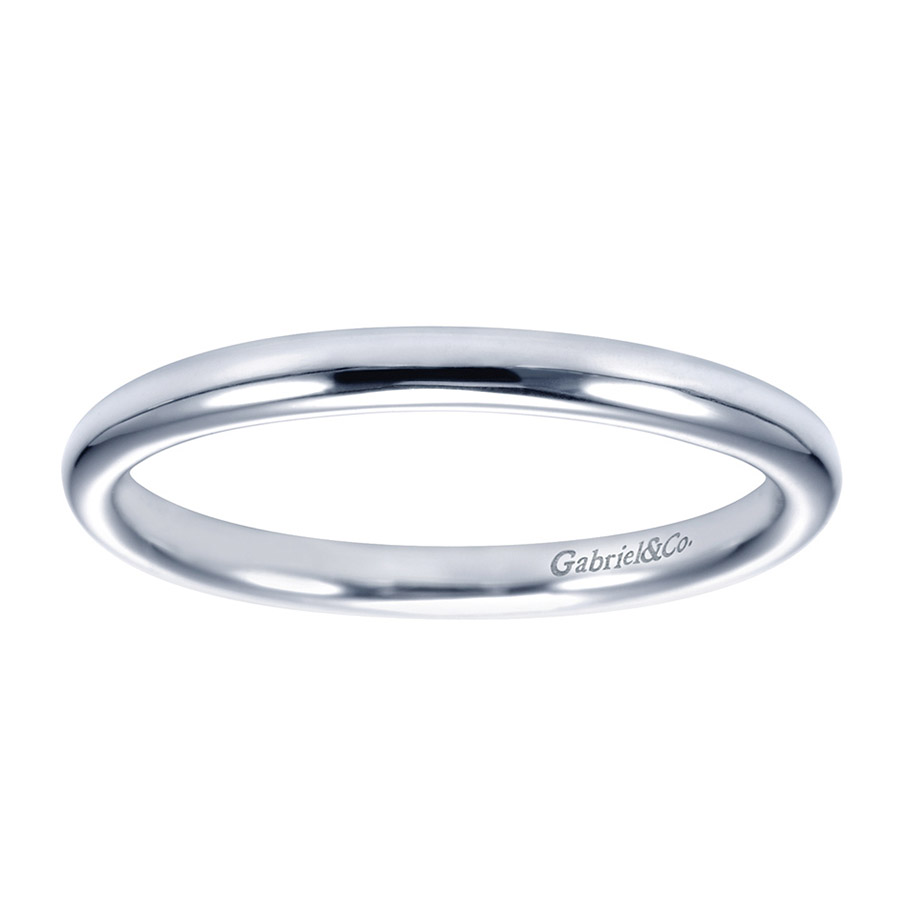 Gabriel Platinum Contemporary Wedding Band WB7490PTJJJ Alternative View 4