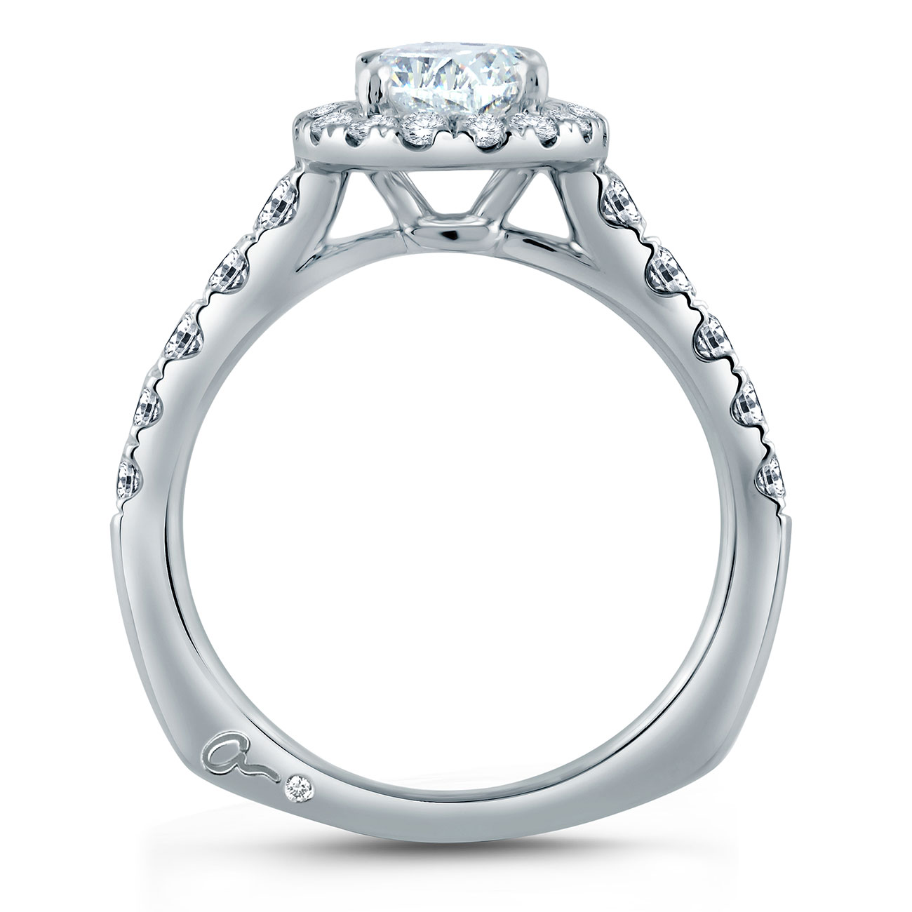 A.JAFFE Platinum Signature Engagement Ring MES868 Alternative View 1