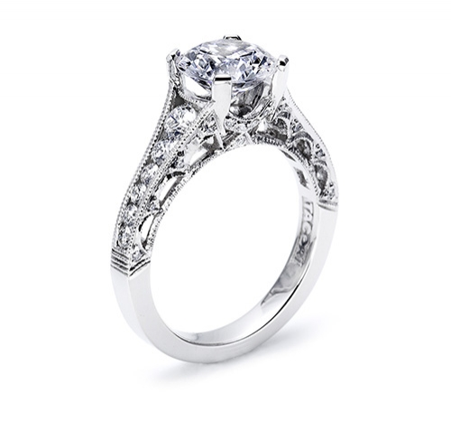 Tacori Platinum Crescent Engagement Ring HT25105.5 Alternative View 1