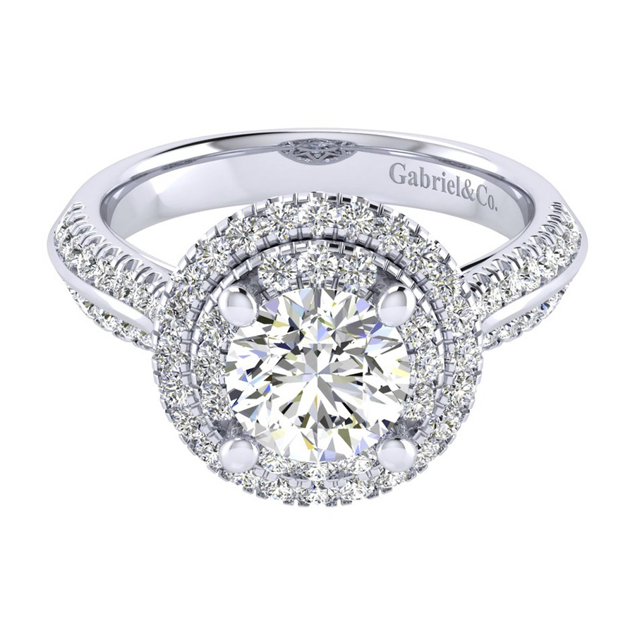 Gabriel 14 Karat Perfect Match Engagement Ring ER002C6AIW44JJ