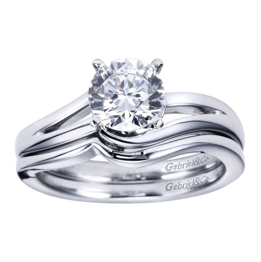 Gabriel Platinum Contemporary Engagement Ring ER6680PTJJJ Alternative View 3