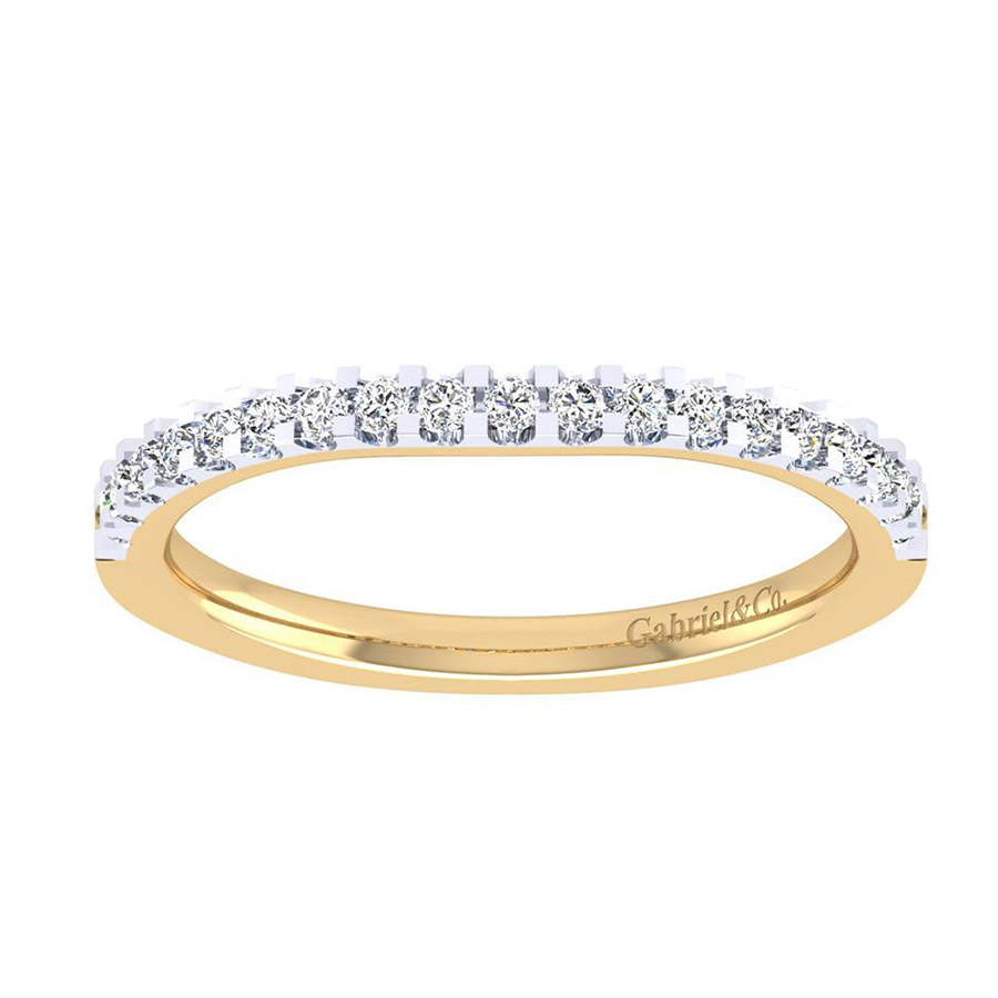Gabriel 14 Karat Contemporary Wedding Band WB7482M44JJ Alternative View 4