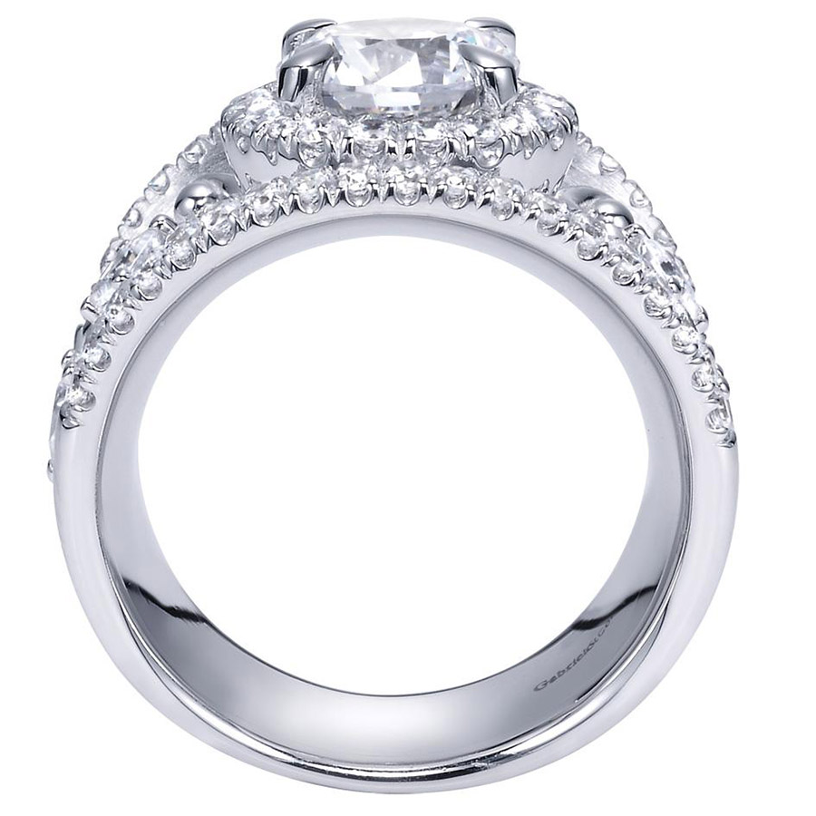 Gabriel 14 Karat Contemporary Engagement Ring ER8453W83JJ Alternative View 1