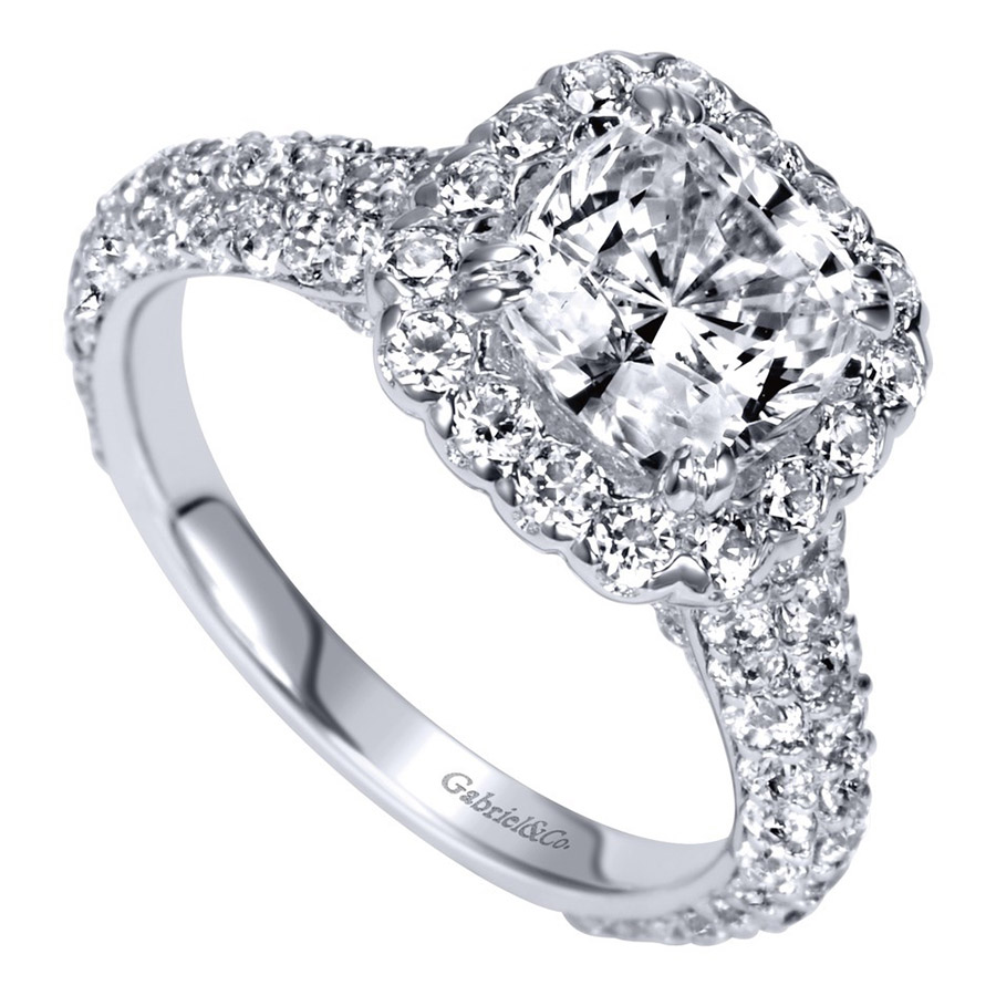 Gabriel 18 Karat Contemporary Engagement Ring ER8304C6W83JJ Alternative View 2