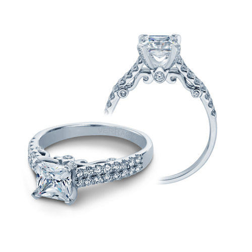 Verragio Platinum Insignia Engagement Ring INS-7036