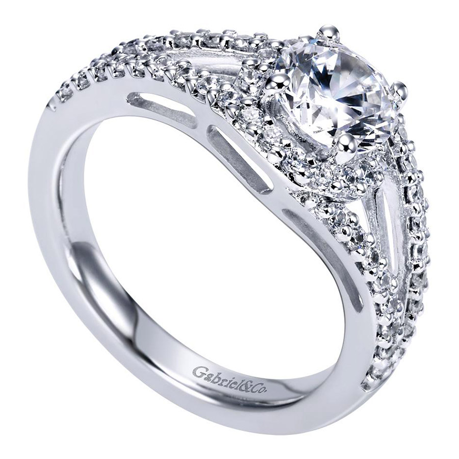 Gabriel 14 Karat Contemporary Engagement Ring ER5999W44JJ Alternative View 2