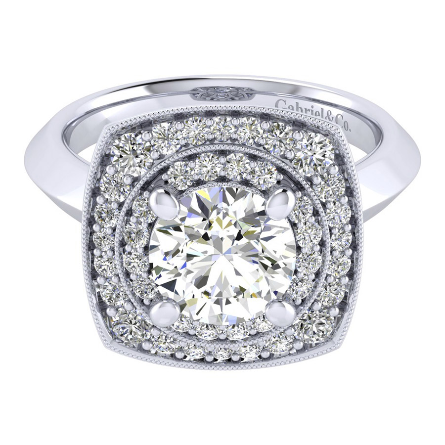 Gabriel 14 Karat Perfect Match Engagement Ring ER001C8AFW44JJ