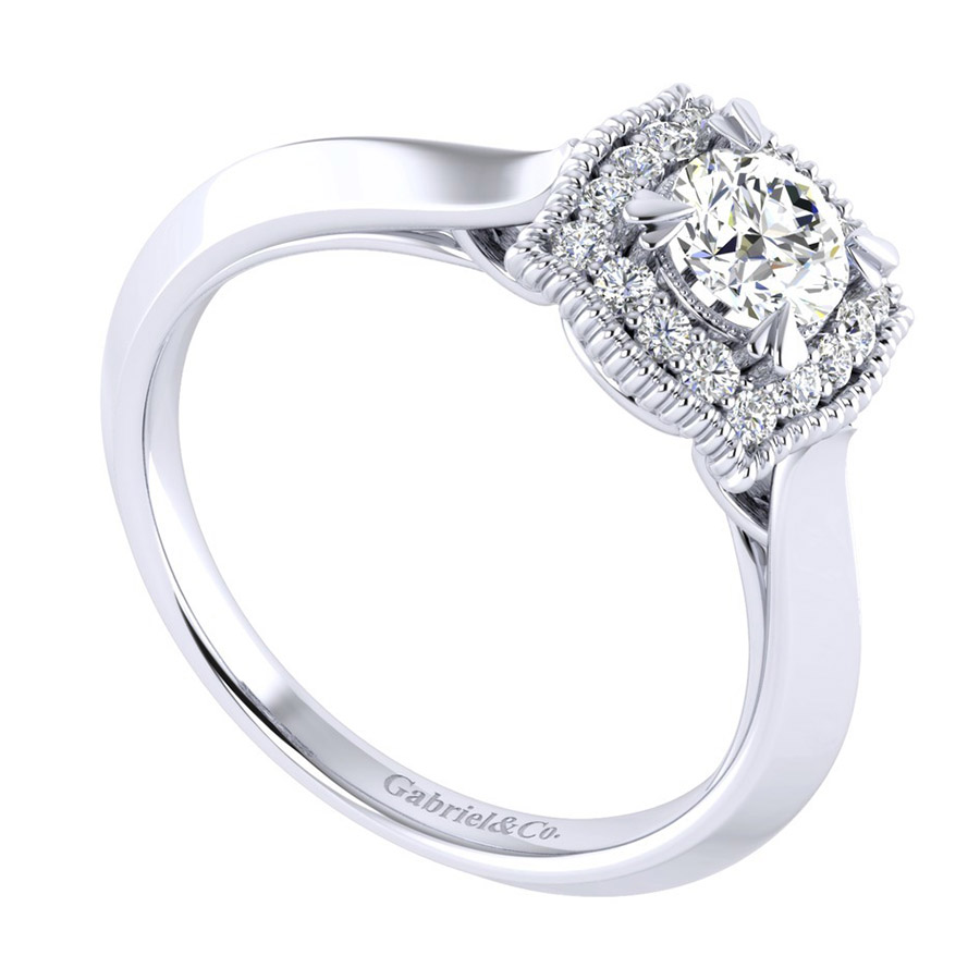 Gabriel 14 Karat Perfect Match Engagement Ring ER001A2AAW44JJ Alternative View 2