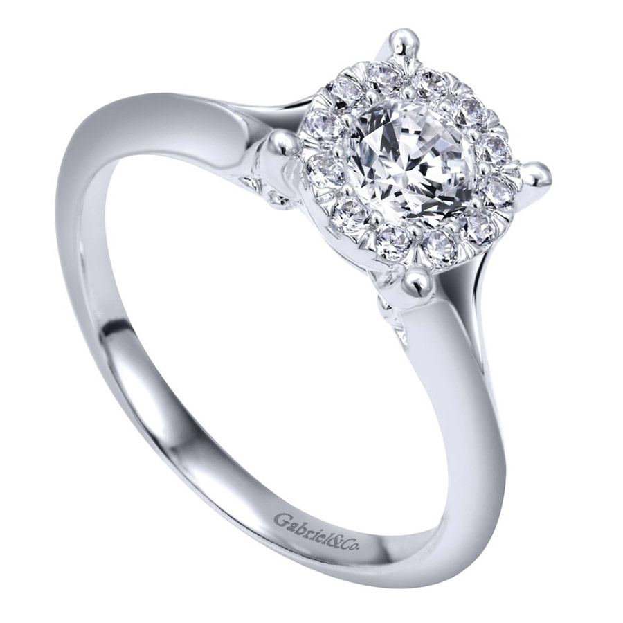 Gabriel 14 Karat Contemporary Engagement Ring ER910941W44JJ Alternative View 2