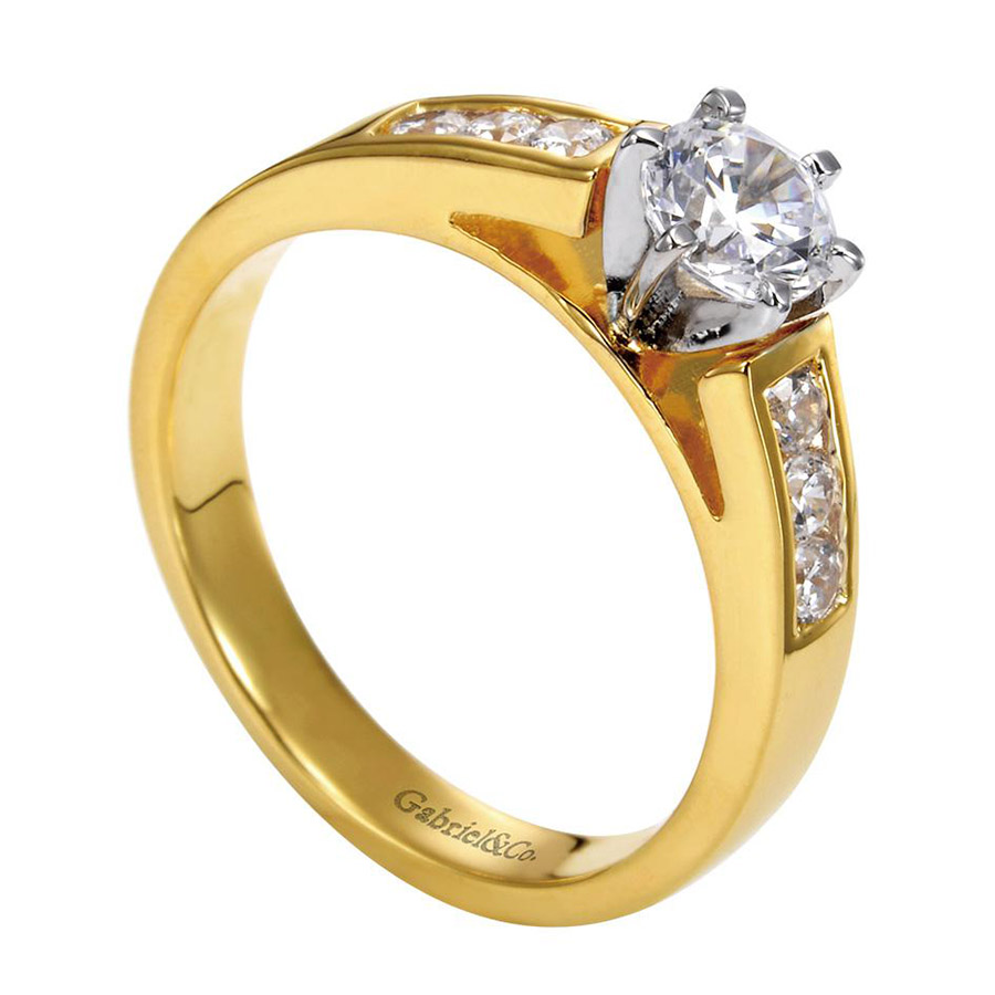 Gabriel 14 Karat Contemporary Engagement Ring ER2315M43JJ Alternative View 2