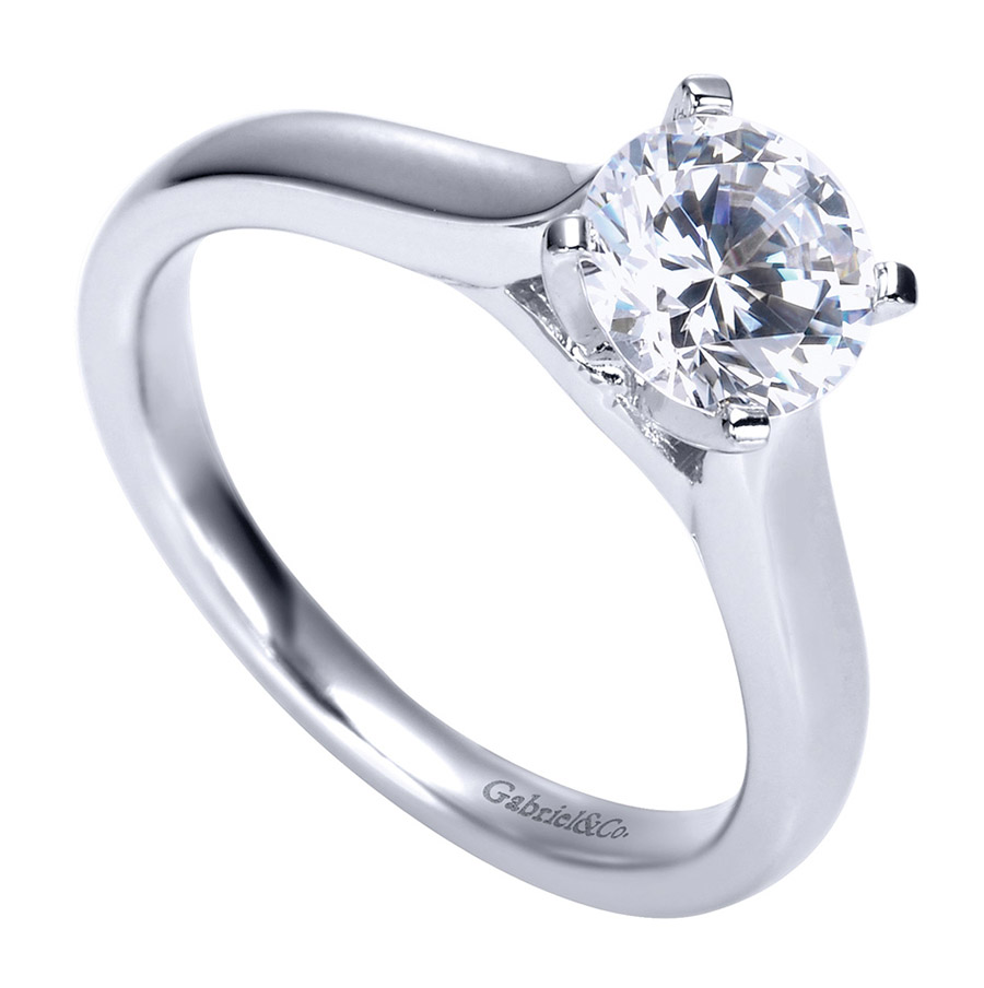 Gabriel Platinum Contemporary Engagement Ring ER8076PTJJJ Alternative View 2