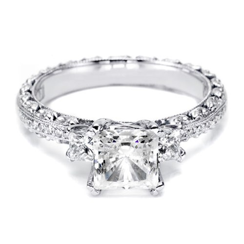 Tacori Crescent Platinum Engagement Ring HT2368P