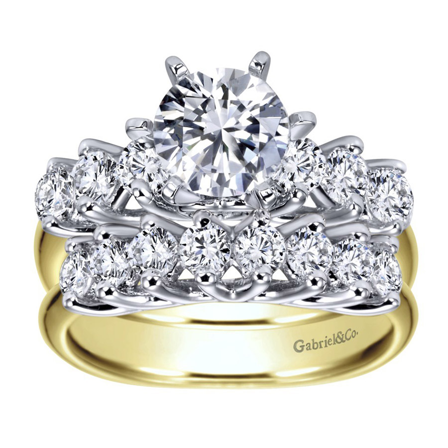 Gabriel 14 Karat Contemporary Engagement Ring ER3956M44JJ Alternative View 3